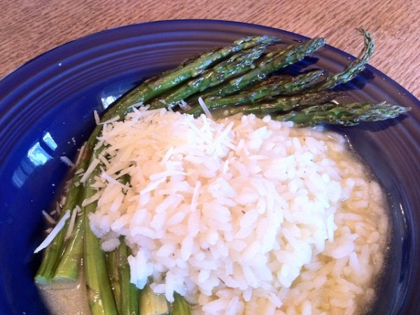 Risotto and Roasted Asparagus